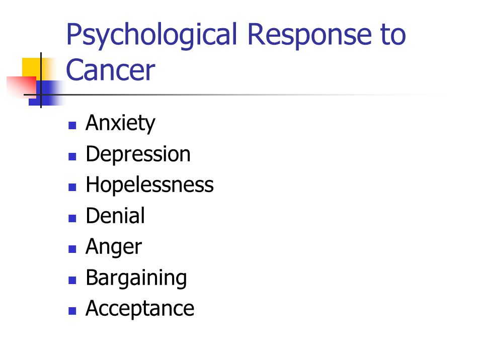 Psychological Response to Cancer