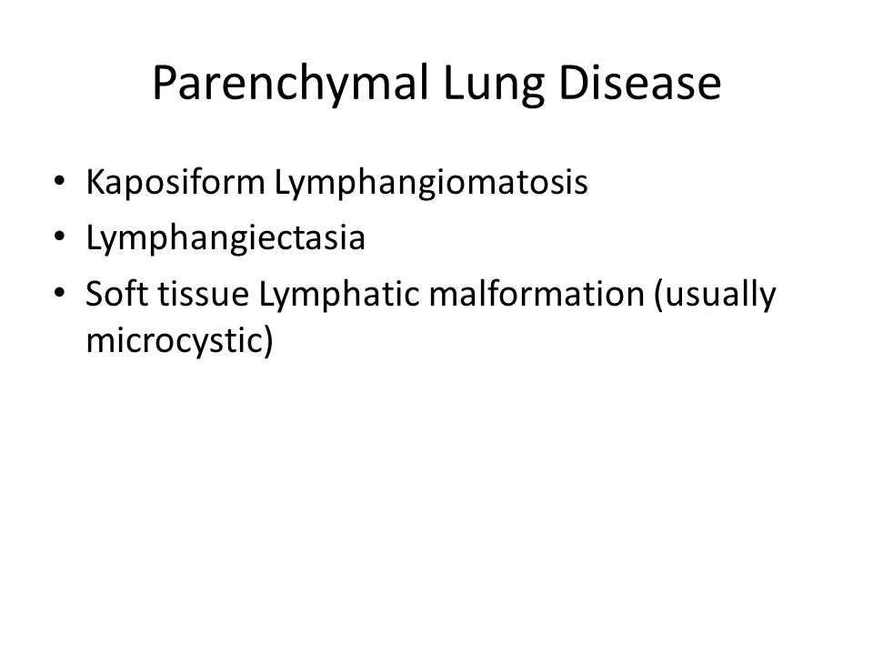 Parenchymal Lung Disease