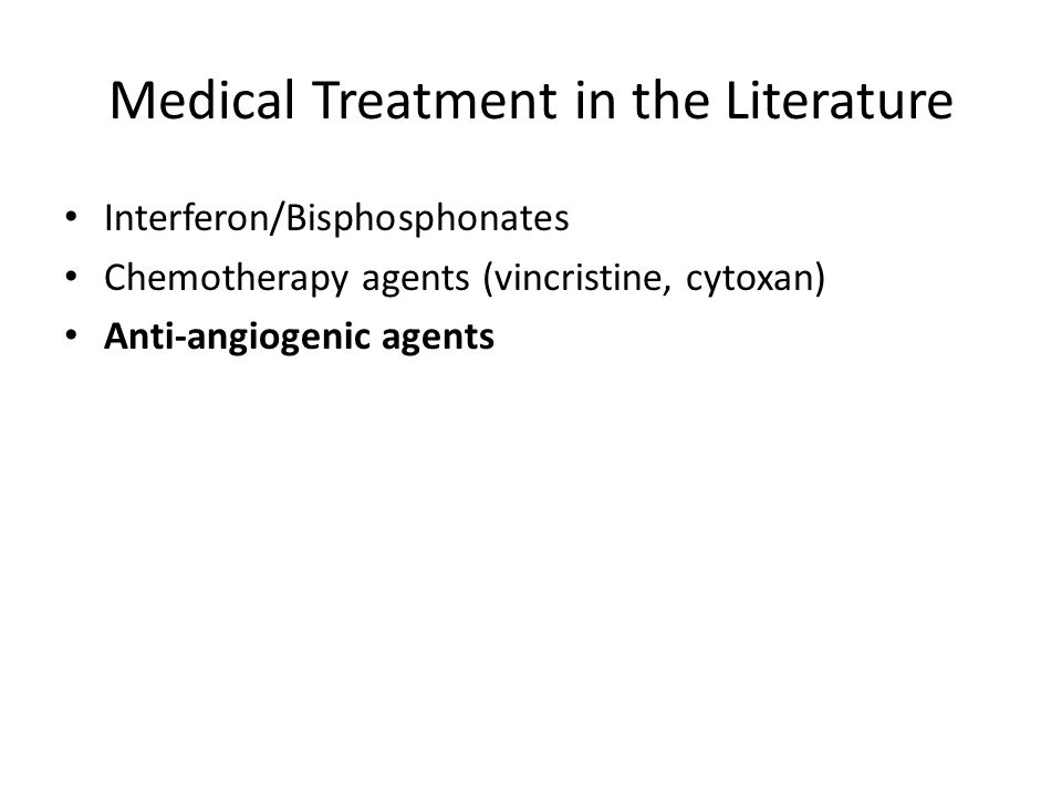 Medical Treatment in the Literature