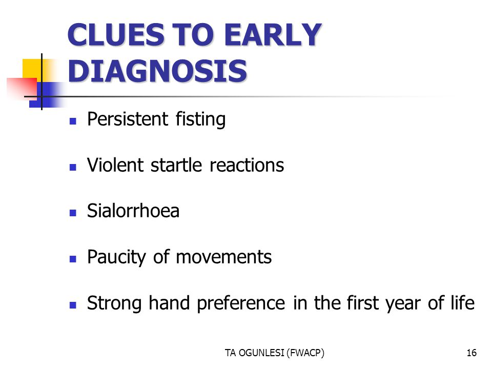 CLUES TO EARLY DIAGNOSIS