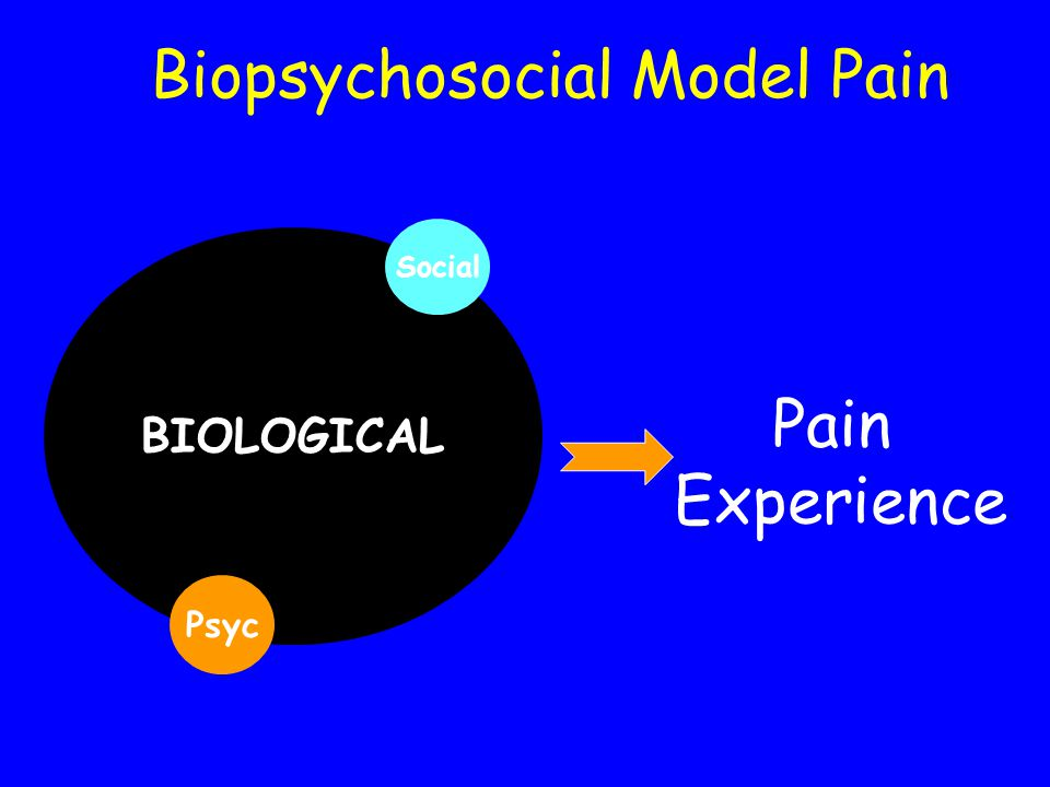 Biopsychosocial Model Pain