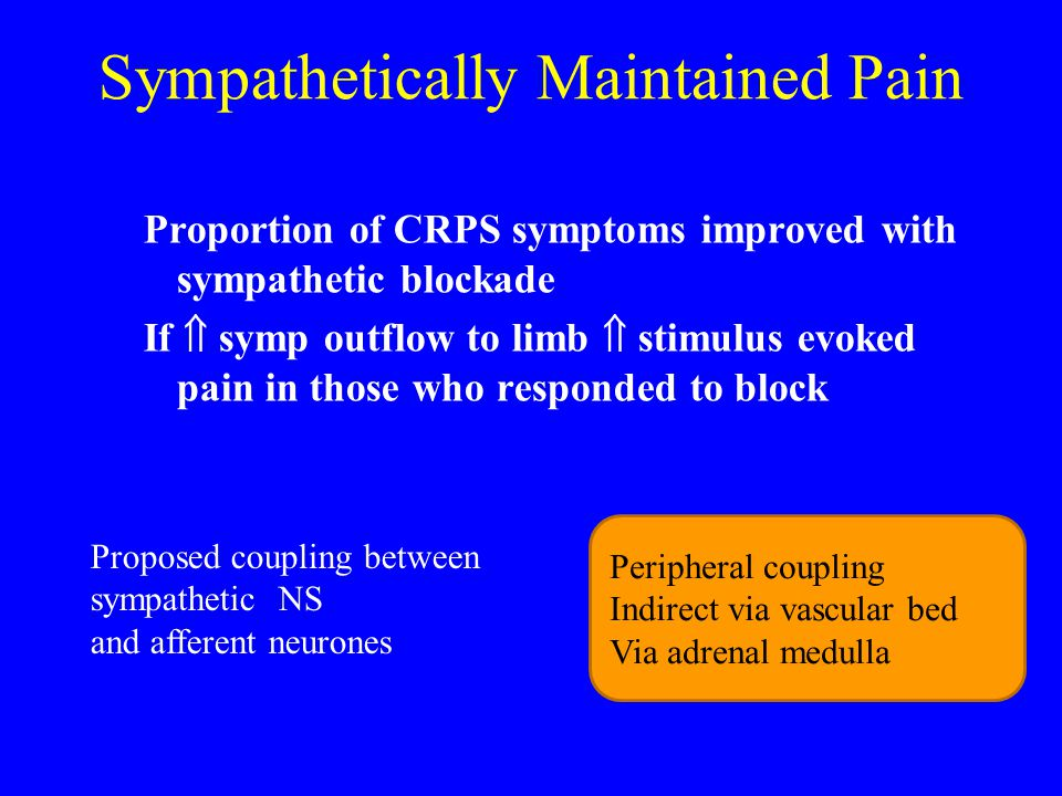 Sympathetically Maintained Pain