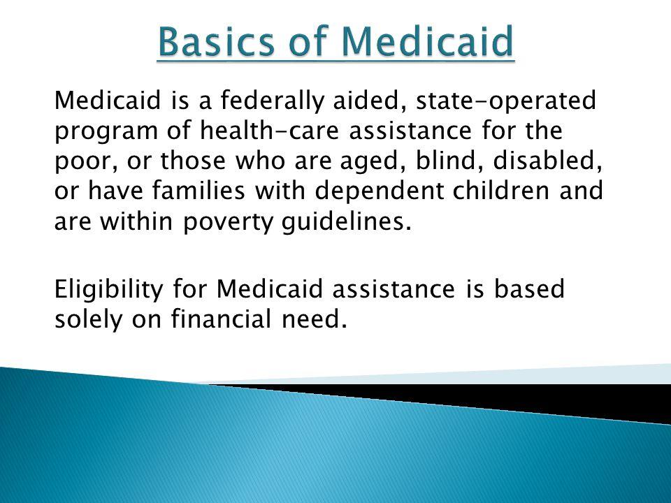 Basics of Medicaid