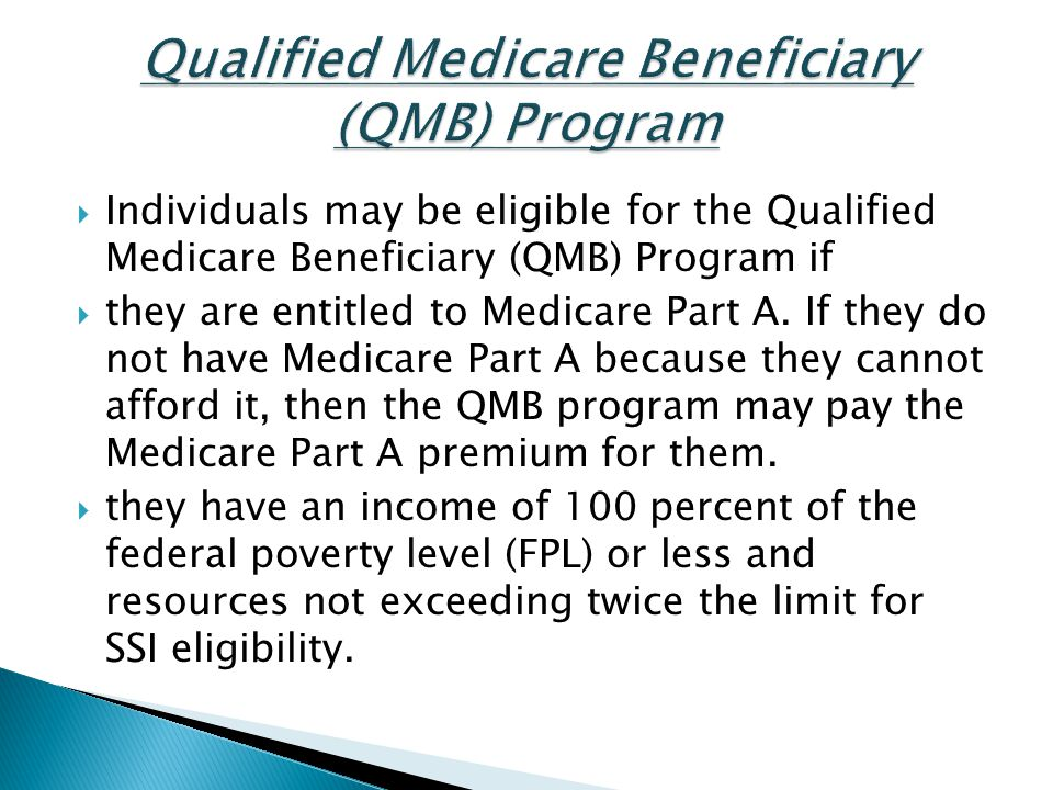 Qualified Medicare Beneficiary (QMB) Program
