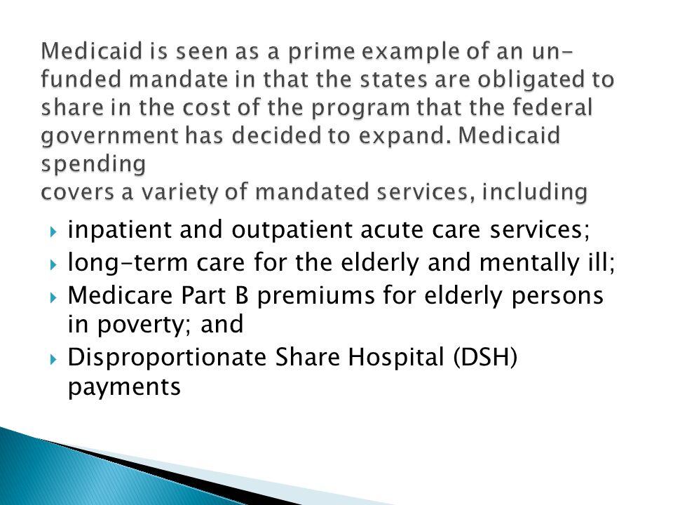 inpatient and outpatient acute care services;