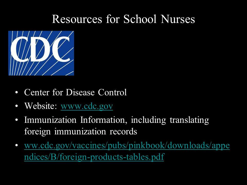 Resources for School Nurses