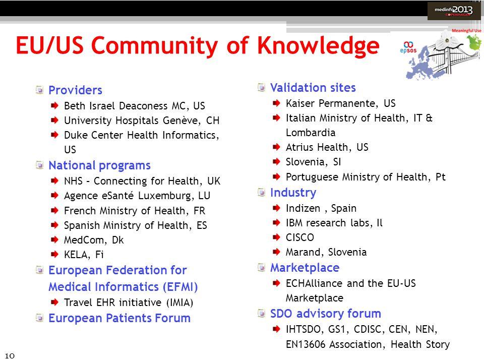 EU/US Community of Knowledge