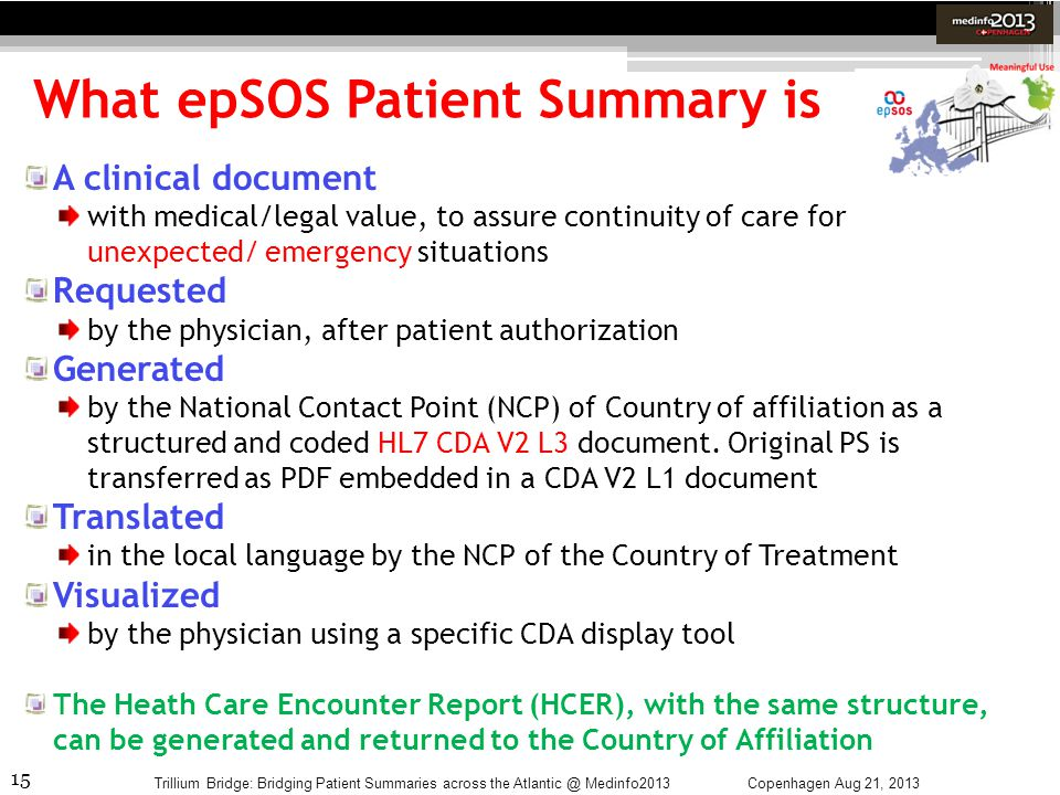 What epSOS Patient Summary is