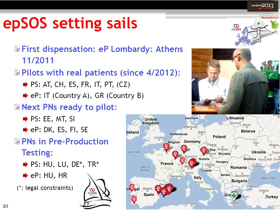 epSOS setting sails First dispensation: eP Lombardy: Athens 11/2011