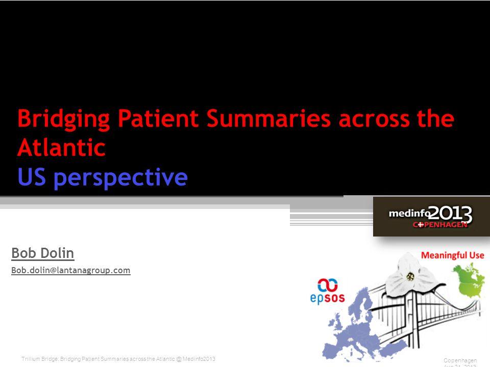 Bridging Patient Summaries across the Atlantic US perspective