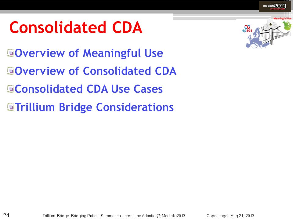 Consolidated CDA Overview of Meaningful Use