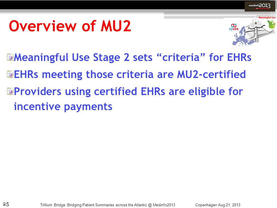 Overview of MU2 Meaningful Use Stage 2 sets criteria for EHRs