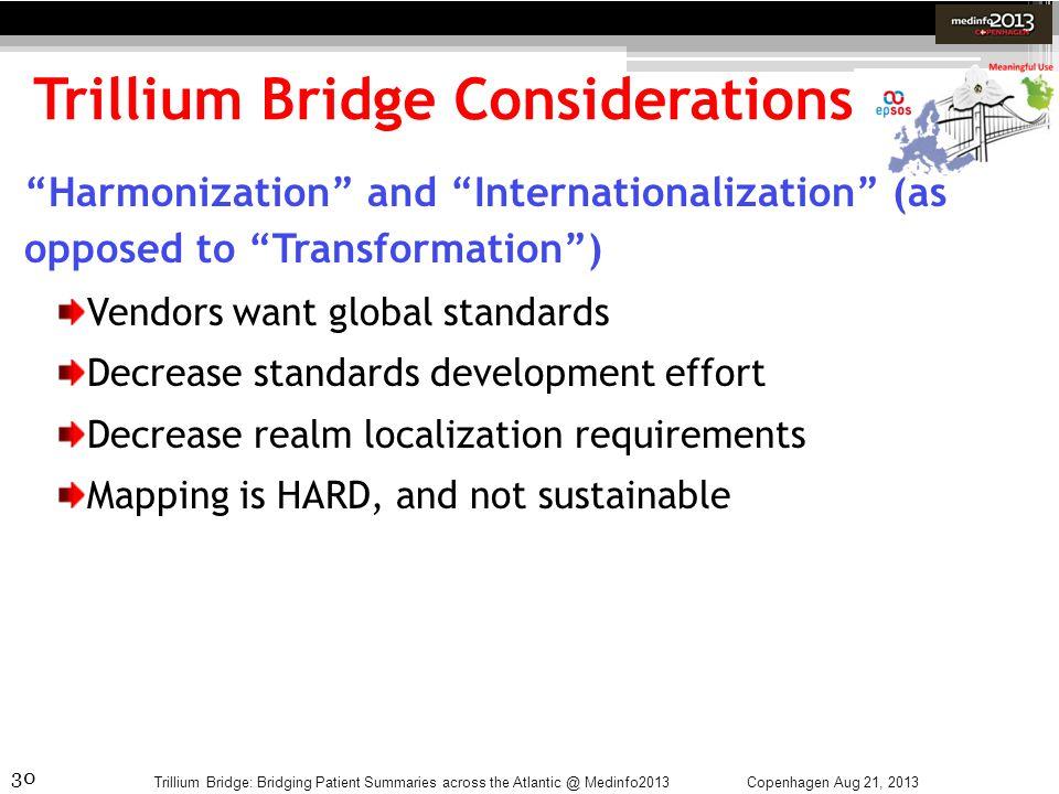 Trillium Bridge Considerations