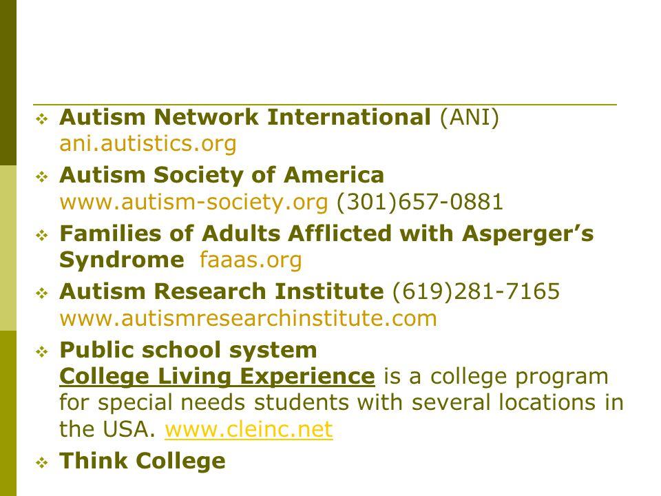 Autism Network International (ANI) ani.autistics.org
