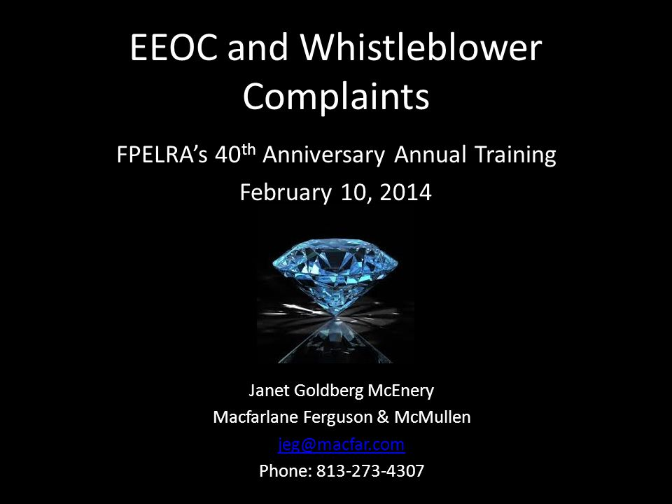 EEOC and Whistleblower Complaints