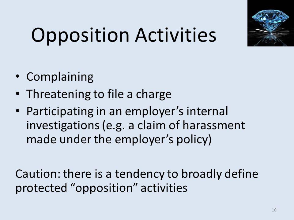 Opposition Activities