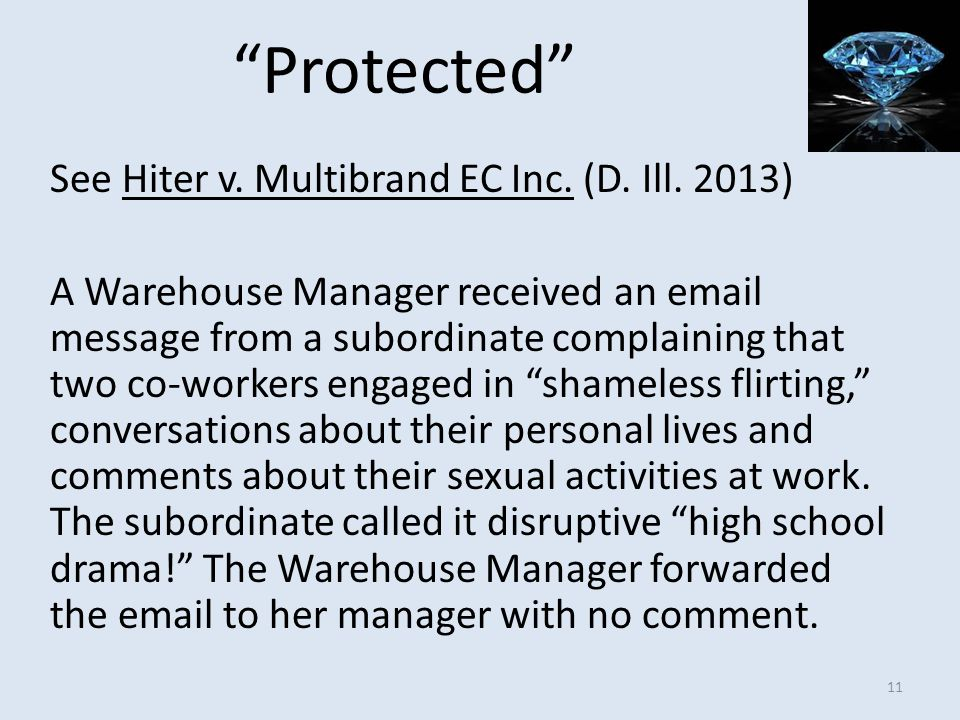 Protected See Hiter v. Multibrand EC Inc. (D. Ill. 2013)