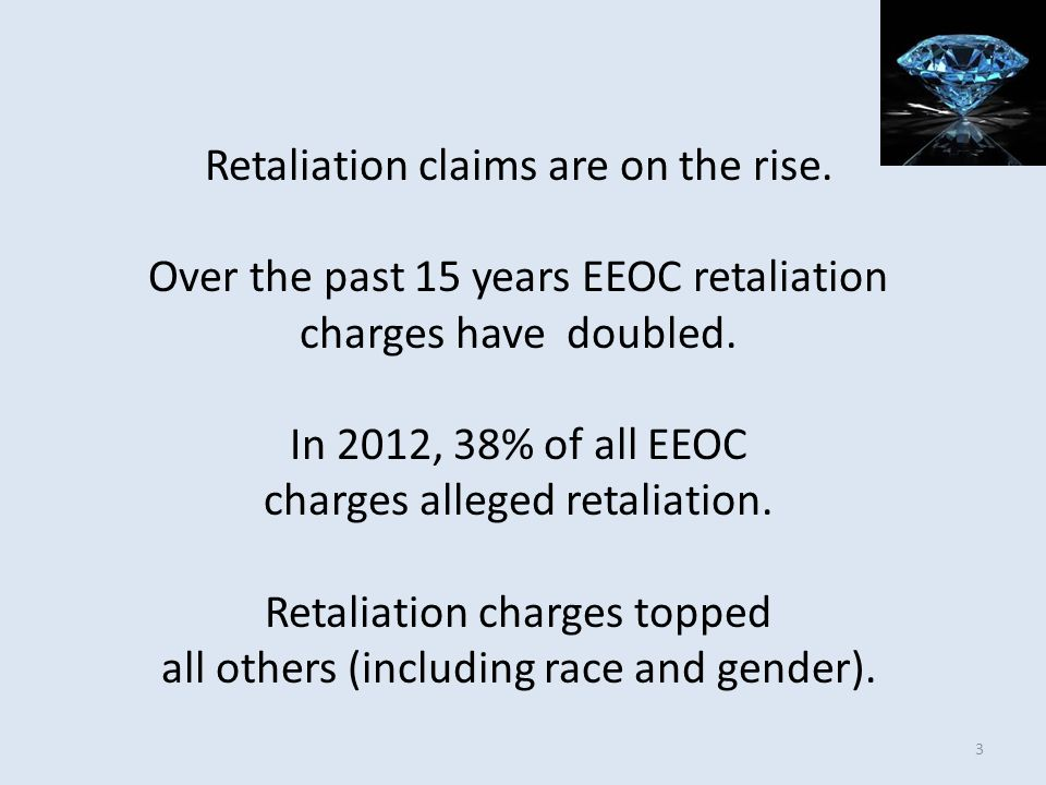 Retaliation claims are on the rise.