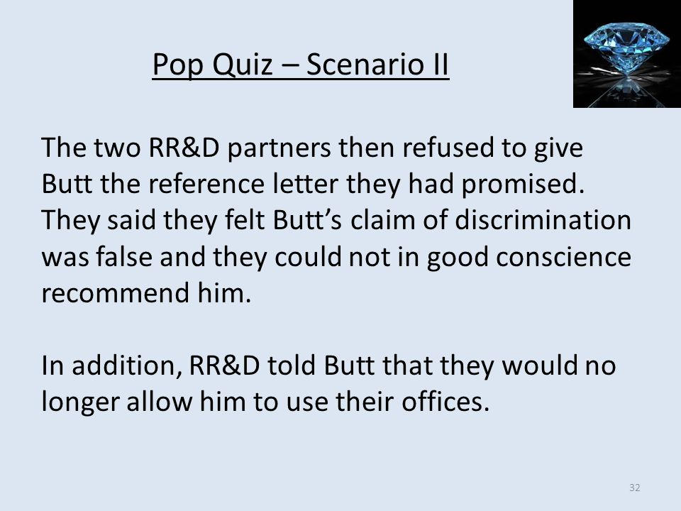 Pop Quiz – Scenario II