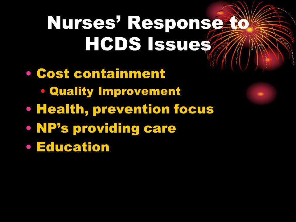 Nurses' Response to HCDS Issues