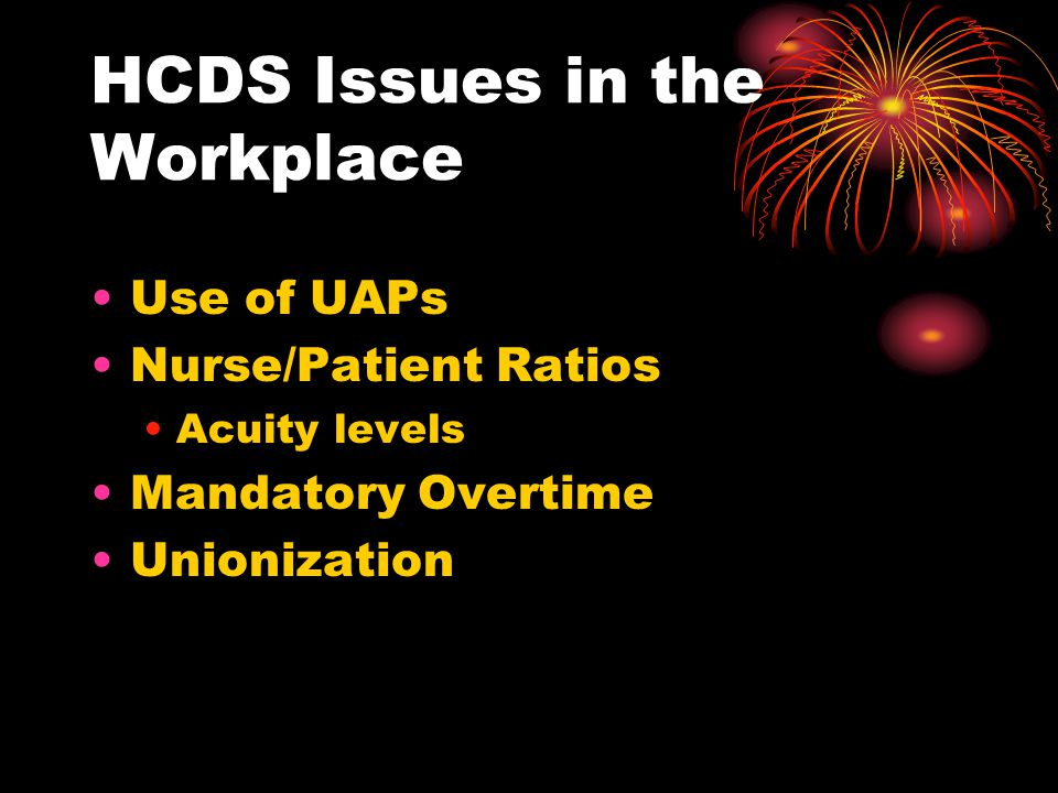 HCDS Issues in the Workplace