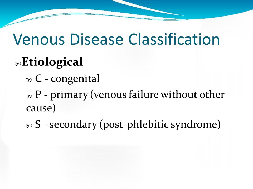 Venous Disease Classification