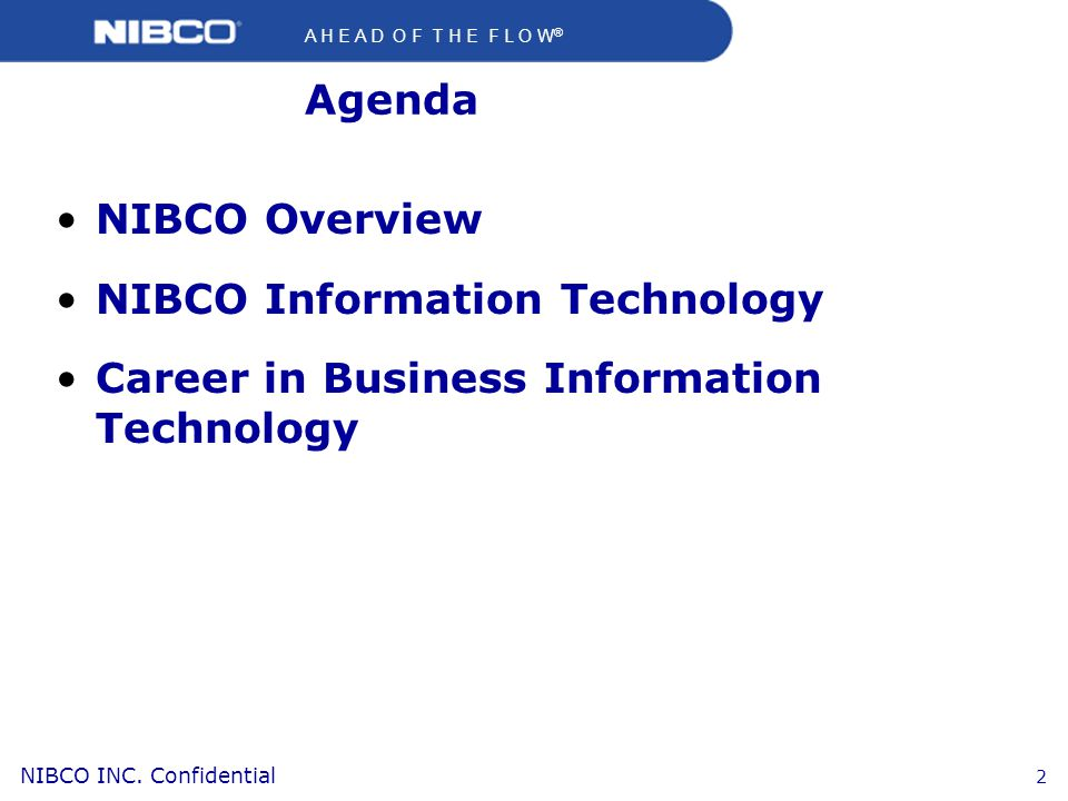 NIBCO Information Technology Career in Business Information Technology
