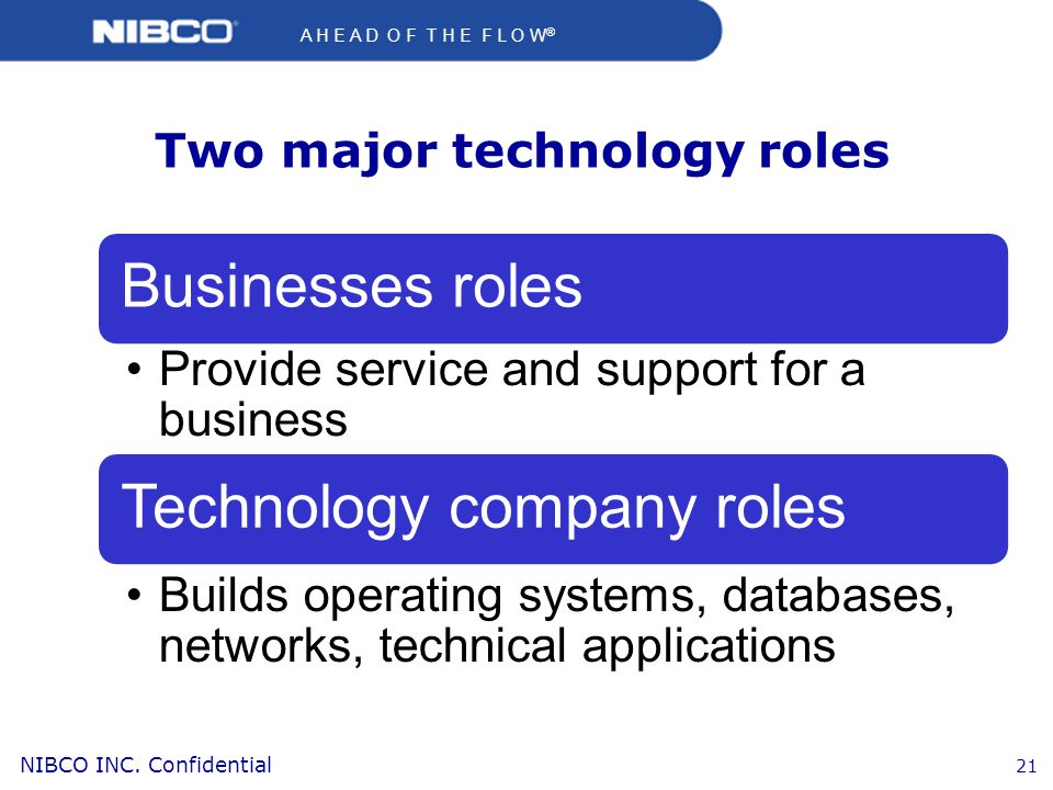 Two major technology roles