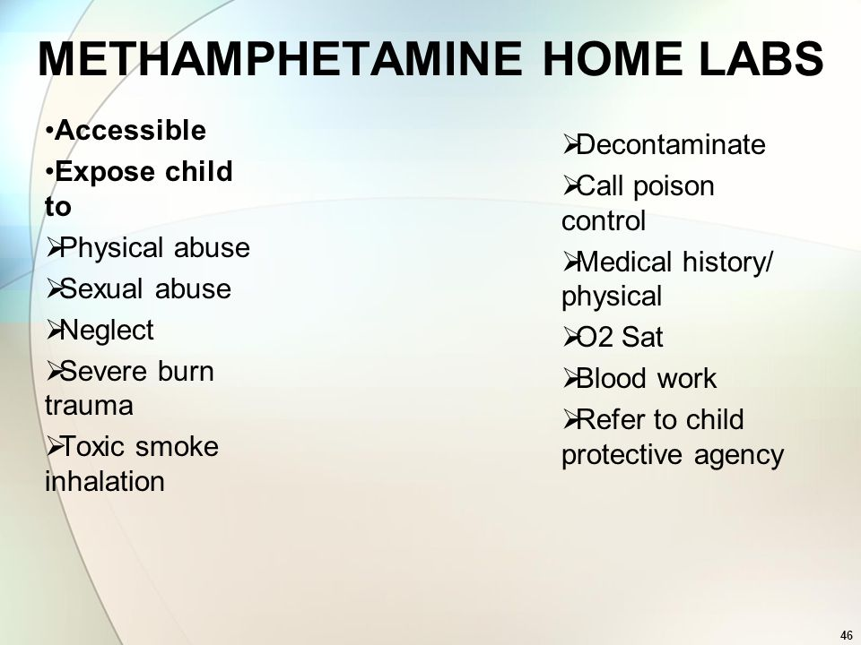 METHAMPHETAMINE HOME LABS