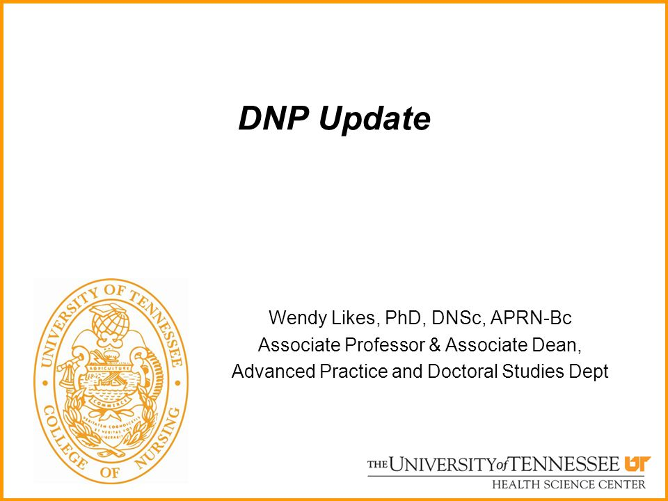 DNP Update Wendy Likes, PhD, DNSc, APRN-Bc