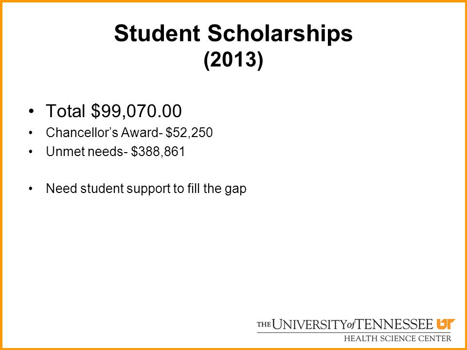 Student Scholarships (2013)