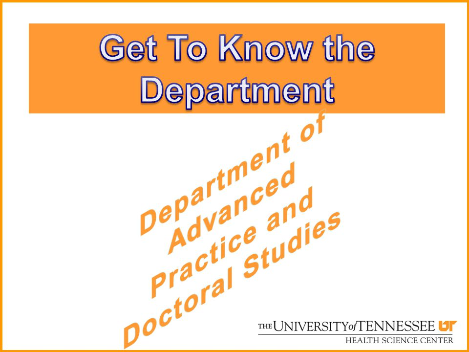 Get To Know the Department
