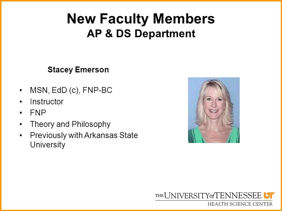 New Faculty Members AP & DS Department