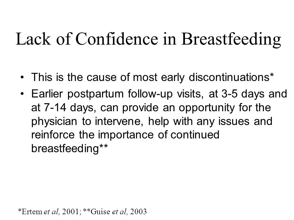 Lack of Confidence in Breastfeeding
