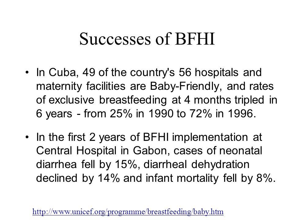 Successes of BFHI