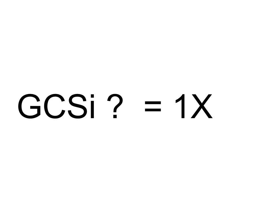 GCSi = 1X