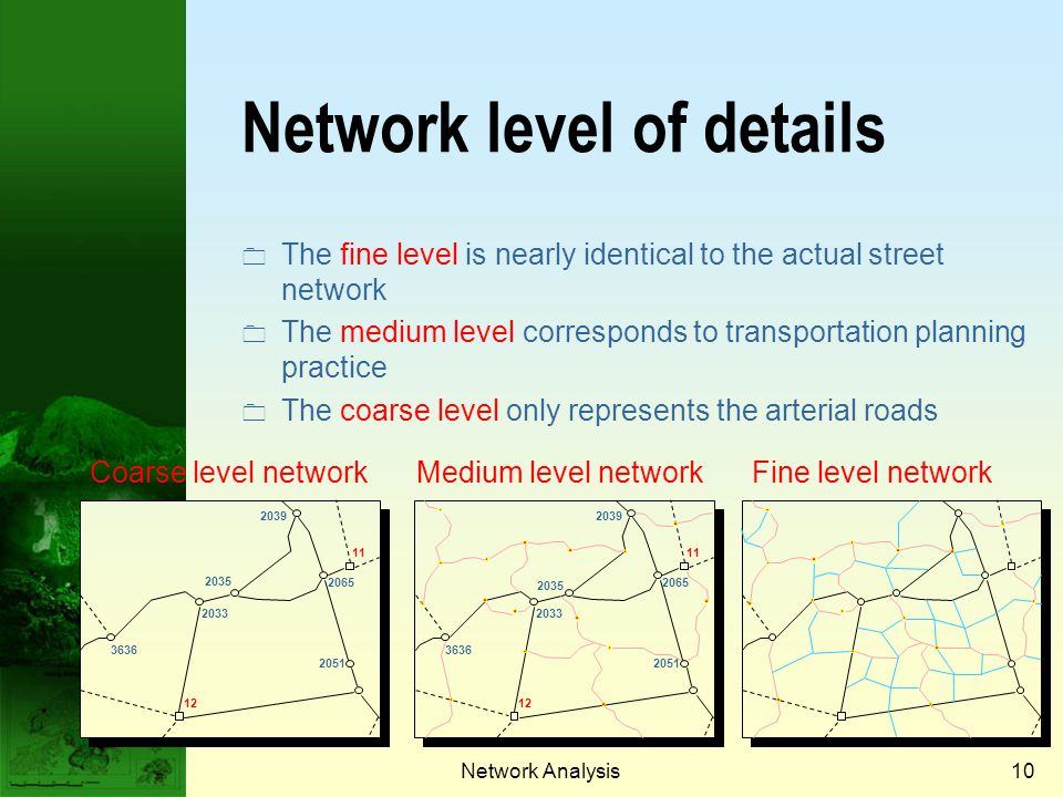 Network level of details