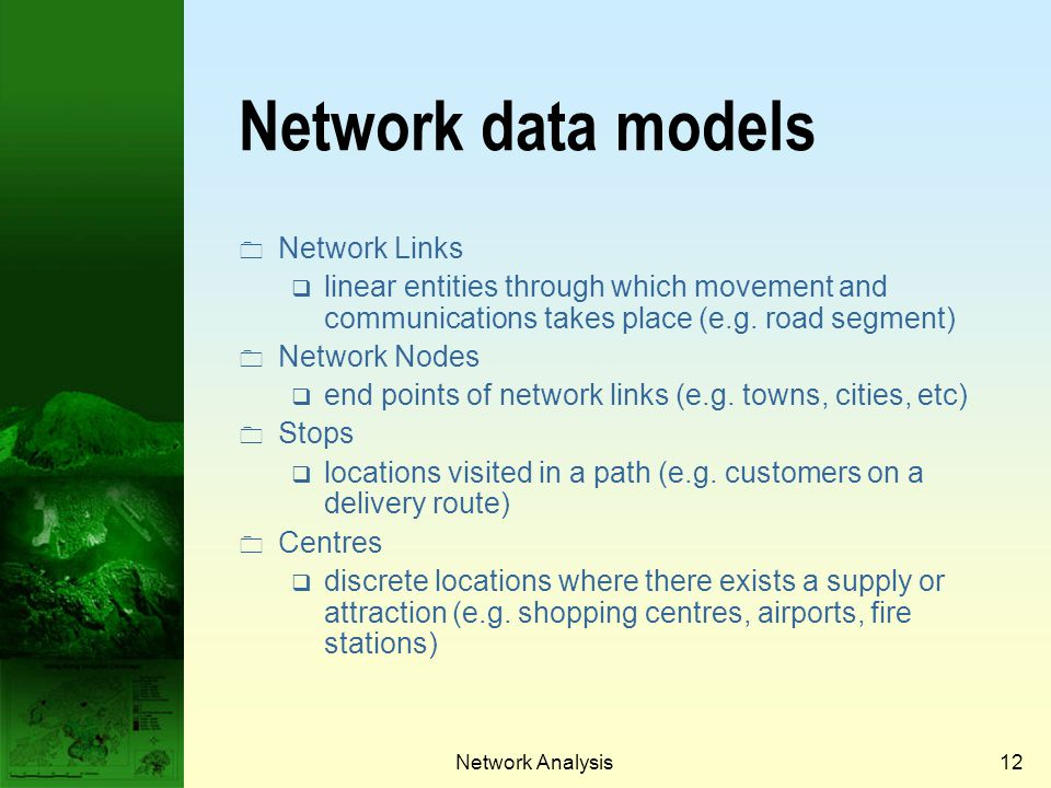 Network data models Network Links