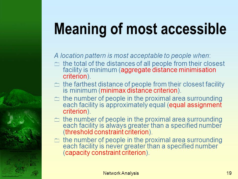 Meaning of most accessible