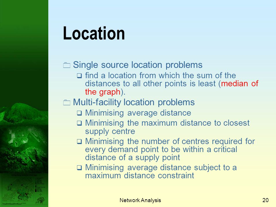Location Single source location problems