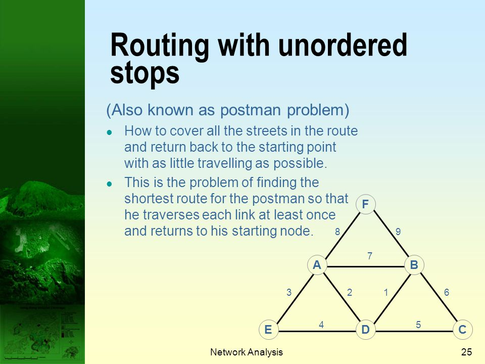 Routing with unordered stops