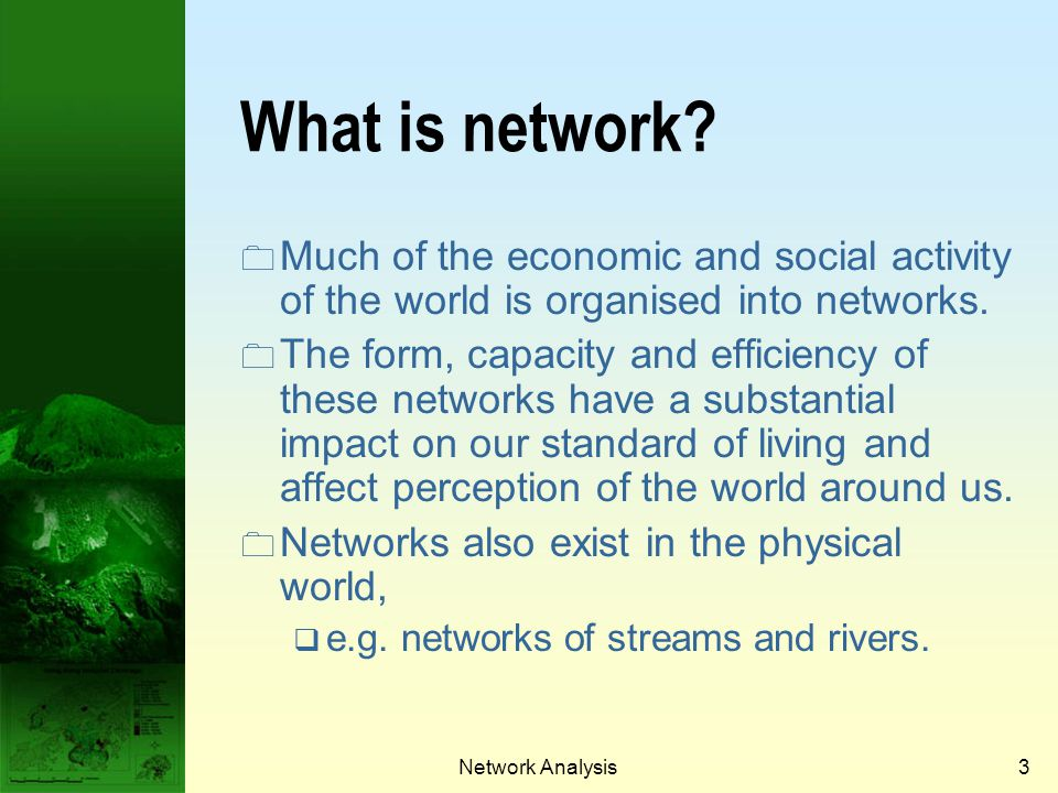 Prof. Qiming Zhou What is network Much of the economic and social activity of the world is organised into networks.