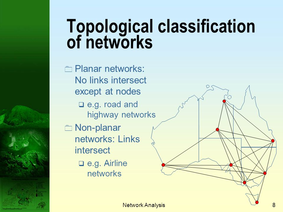 Topological classification of networks