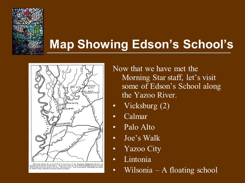 Map Showing Edson's School's