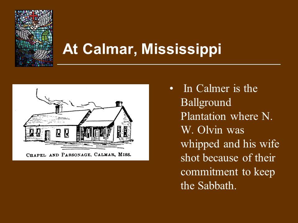 At Calmar, Mississippi