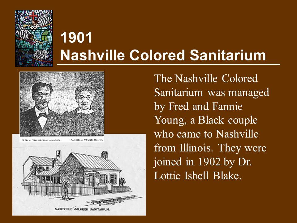 1901 Nashville Colored Sanitarium