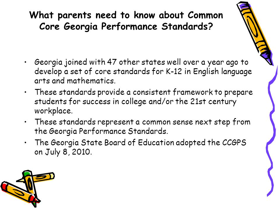 What parents need to know about Common Core Georgia Performance Standards