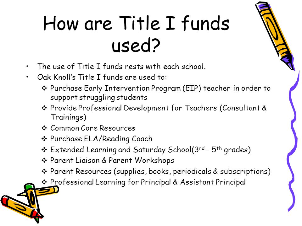 How are Title I funds used