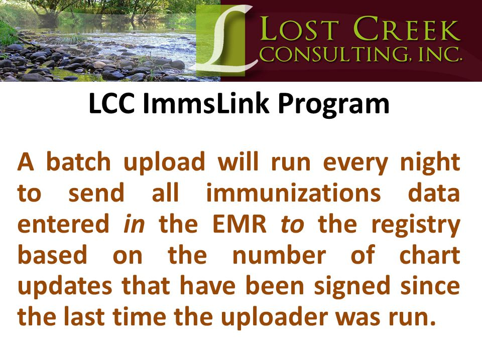 LCC ImmsLink Program