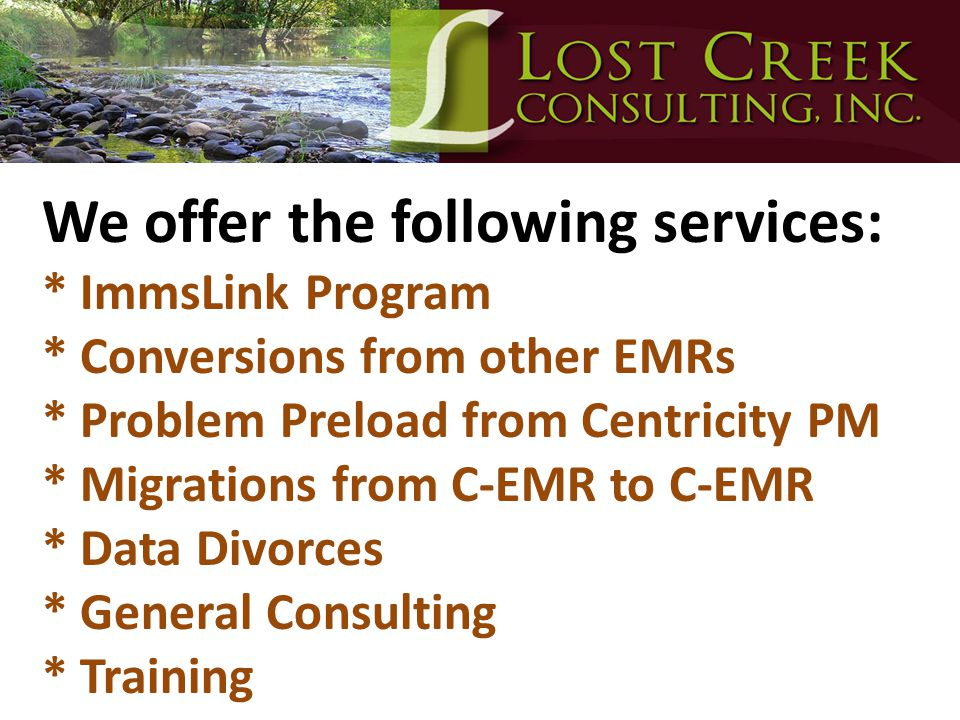 We offer the following services:. ImmsLink Program